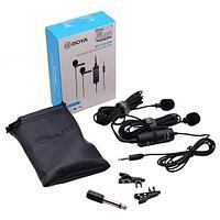 Петличный микрофон BOYA BY-M1DM петличка для телефона, камеры