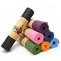 Коврик для йоги и фитнеса 6 мм гимнастический Размер 61х175 см