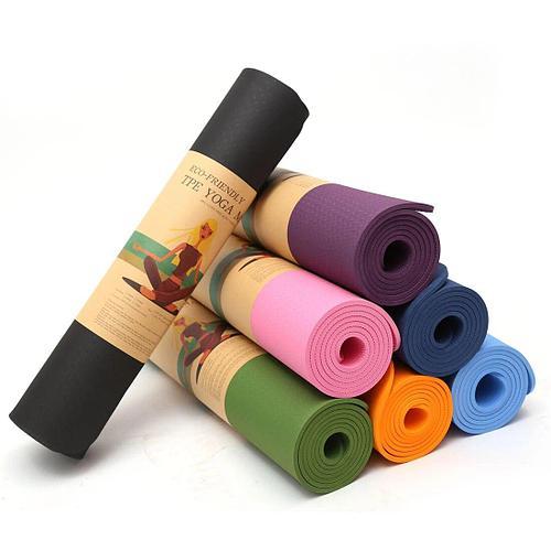 Коврик для йоги и фитнеса 6 мм гимнастический Размер 61х173 см с чехлом