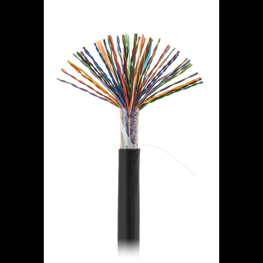 Кабель NETLAN U/UTP 50 пар, Кат.5 (Класс D), 100МГц, одножильный, BC (чистая медь), внешний, PE до -40C,