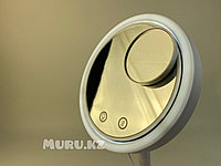 Настольное зеркало 20 см для макияжа с LED подсветкой USB косметическое с обдувом