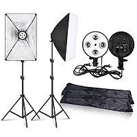 Софтбоксы набор 2шт для фото видео съемки + Штатив в комплекте. 8 лампочек в подарок!