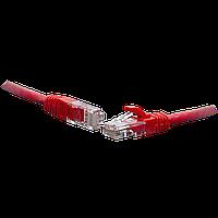 Коммутационный шнур U/UTP 4-х парный cat.5e 0.3м LSZH standart красный