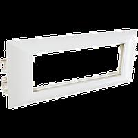 Суппорт с рамкой на 1 пост (45х45) в профиль для кабельных каналов 100х50, 105х50