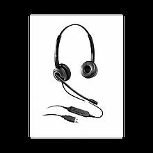 Voice Technologist VT6200-D USB Гарнитура проводная USB, Дуо, HD звук, Разъем USB