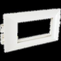 Суппорт с рамкой на 1 пост (45х45) в профиль для кабельного канала 130х50