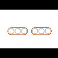 Пакет микротрубок 6х16/12 мм Flatliner (м)