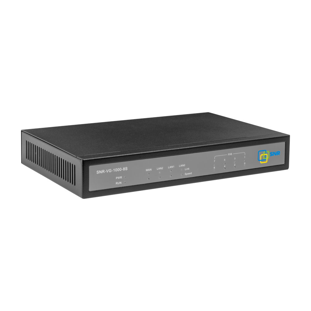 Шлюз VoIP SNR, 8 FXS, 2 RJ45, 8 SIP аккаунтов