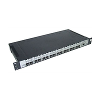 Медиаконвертер (транспондер) 8-канальный STM, ATM, Gigabit Ethernet 1U без SFP трансиверов, напряжение питания