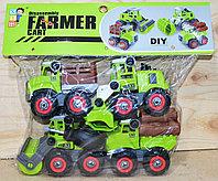 XY01-1 Farmer сельхозтехника 4 в1 разбирайка 32*26см