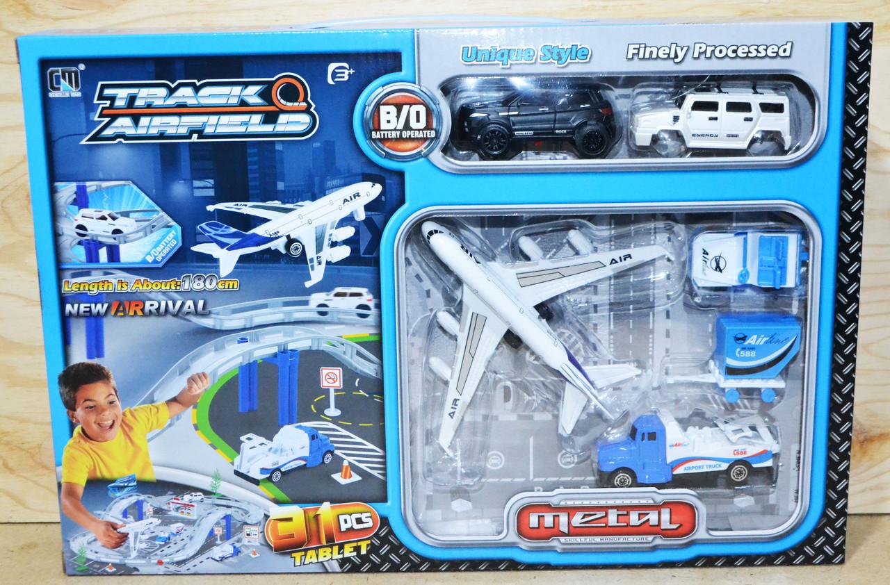 CM557-3 Автотрек аэропорт 6 маш 31 предмет метал 41*28см
