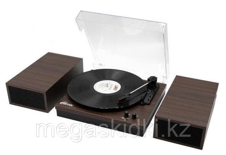 Виниловый проигрыватель+акустика Ritmix LP-340B Dark Wood