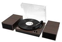 Виниловый проигрыватель+акустика Ritmix LP-340B Dark Wood, фото 1