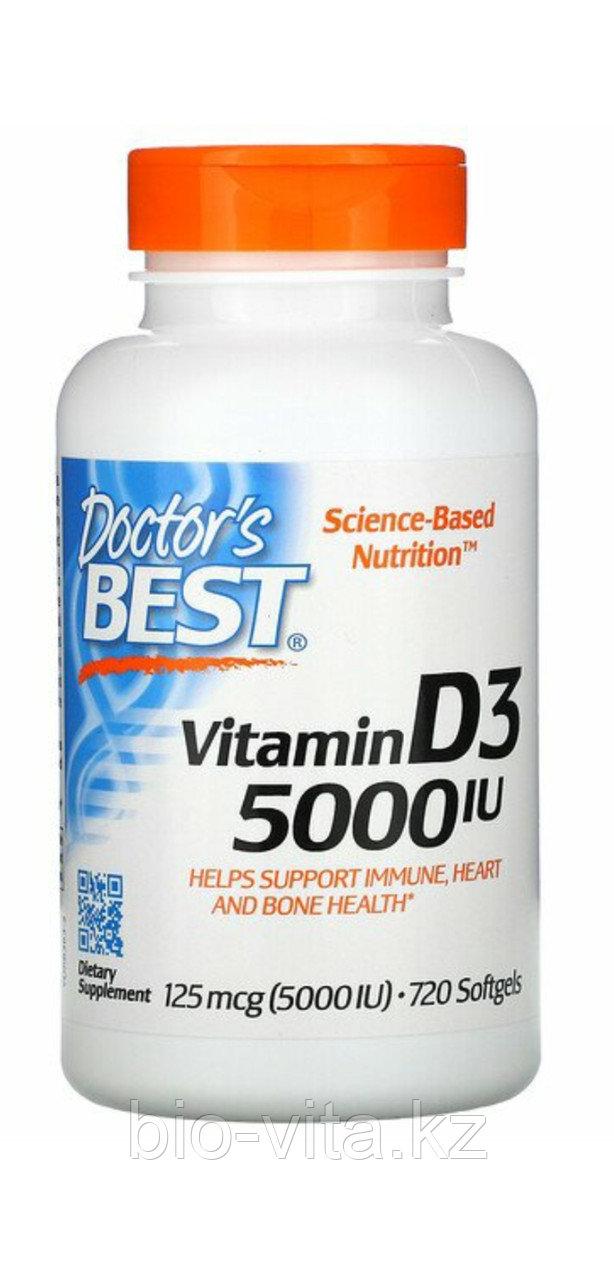 Витамин Д3 5000 IU 720 капсул. Doctor's Best