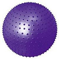 Мяч гимнастический, для фитнеса (фитбол) массажный Motion Partner MP570 (65см) Purple