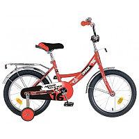 """Велосипед NOVATRACK 16"""", URBAN, красный, полная защита цепи, тормоз нож., крылья и багажник хром.,"""