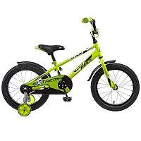 """Велосипед NOVATRACK 18"""", EXTREME, салатовый, полная защита цепи,  тормоз нож, короткие крылья, нет б"""