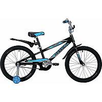 """Велосипед NOVATRACK 20"""", DODGER, черный, алюм.рама, тормоз нож., короткие крылья, нет багаж"""