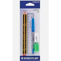 Набор канцелярский Student set (карандаш, ручка, линейка, точилка, ластик)