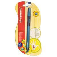 Ручка шариковая STABILO LeftRight, для левшей, для обучения письму, голубая