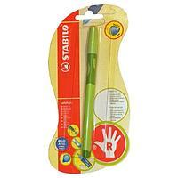 Ручка шариковая STABILO LeftRight, для правшей, для обучения письму, зеленая
