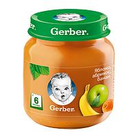 Gerber: Пюре 130г Яблоко,абрикос,банан