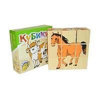 """Томик: Кубики """"Домашние животные"""" 9 шт."""