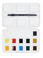 Набор акварельных красок, VAN GOGH, Pocket box, 12 кювет+кисточка, пластик