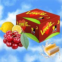 Жевательная резинка Love is… (вишня-лимон) блок 100 шт
