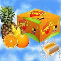Жевательная резинка Love is… (ананас-апельсин) блок 100 шт
