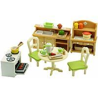 Sylvanian Families: Кухня в коттедже, мебель, духовка, стол, стулья, посуда, игровой набор, подарок девочке