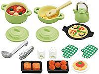 Sylvanian Families: Приготовление на кухне, игрушечная посуда, столовые приборы, еда, игровой набор, подарок