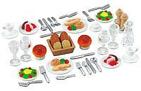 Sylvanian Families: Ужин для двоих, посуда, продукты, игровой набор, 49 предметов