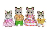 Sylvanian Families: Семья Полосатых Кошек, фигурки животных, игровой набор, подарок девочке