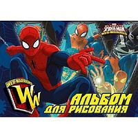 Альбом для рисования 20л. А4, тиснение фольгой, Spider-man Classic