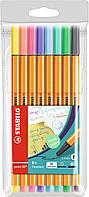 Набор капиллярных ручек линеров STABILO point 88 Pastel 0.4 мм, 8 пастельных цветов