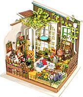 Деревянные 3D пазлы Дома миниатюры ЦВЕТОЧНЫЙ ДОМ МИЛЛЕРА 210 дет.