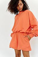 Женский осенний трикотажный оранжевый спортивный джемпер Beauty Style 556 42р.