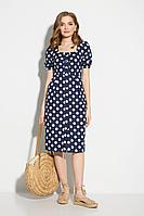 Женское летнее хлопковое синее платье STEFANY 812 синий 42р.