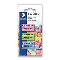 Ластик Pastel Line в блистере 3 шт
