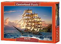Castorland: Пазлы Парусник на закате 1500эл.