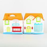 Funny House: Игровой набор кукольный домик со светом и звуком, мебель, кукла, для девочек