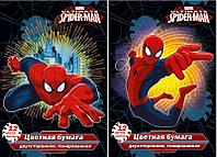 Бумага цветная для детского творчества 12 цв., 12 л., Spider-man Classic