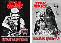 Бумага цветная Star Wars Игровой набор для детского творчества тв 16цв 16л (2мет) Папка А4