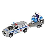 Технопарк: Полиция KIA Sorento Prime 12см+Мотоцикл 7,5см