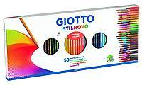 Набор карандашей Giotto Stilnovo пастель 50 цветов, точилка