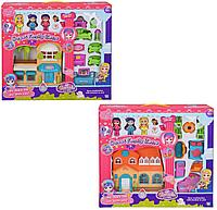 Игровой набор кукольный домик со светом и звуком, мебель, 3 куклы, для девочек, в ассортименте