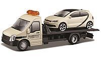 BBURAGO: 1:43 Car Hauler + Volkswagen Polo GTI