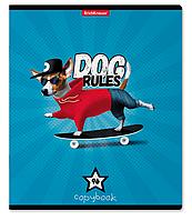 Тетрадь общая Dog Rules, 96 листов, клетка
