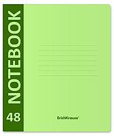 Тетрадь общая ученическая с пластиковой обложкой на скобе Neon, зеленый, А5+, 48 листов, клетка